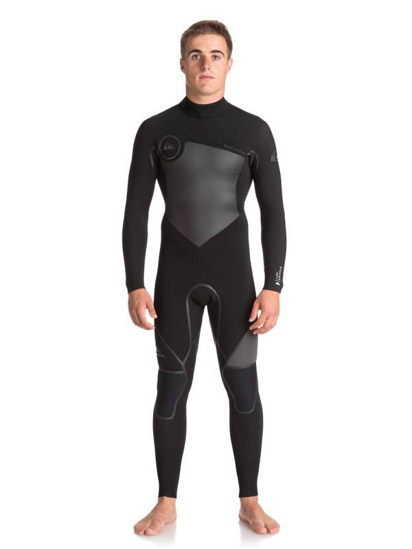 0 4/3mm Syncro Plus - Back Zip Wetsuit for Men Black EQYW103043 Quiksilver