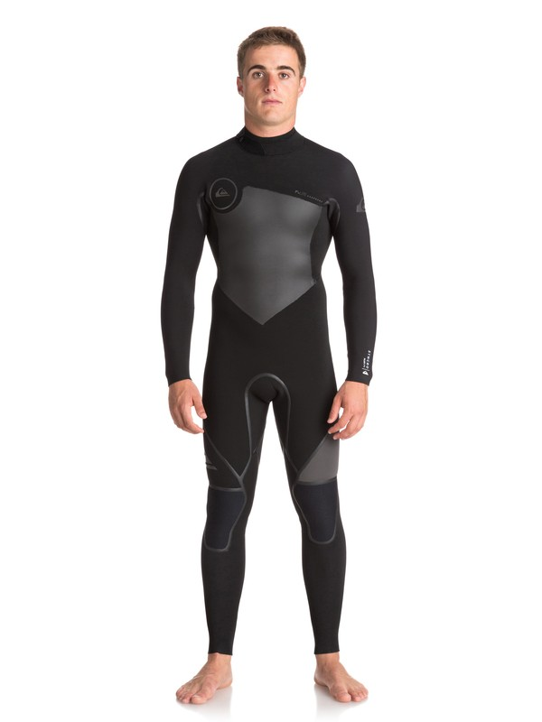 0 4/3mm Syncro Plus - Back Zip Wetsuit Schwarz EQYW103043 Quiksilver