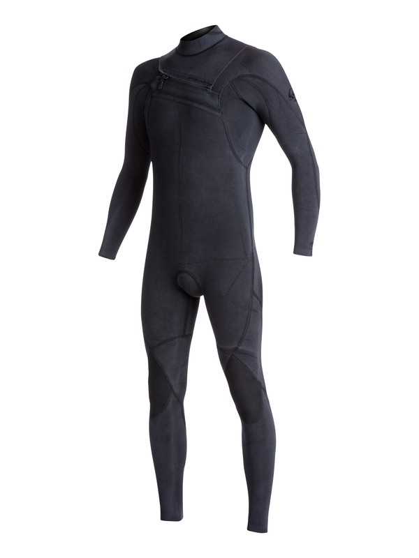 0 3/2mm Quiksilver Originals Monochrome Chest Zip Wetsuit Black EQYW103053 Quiksilver