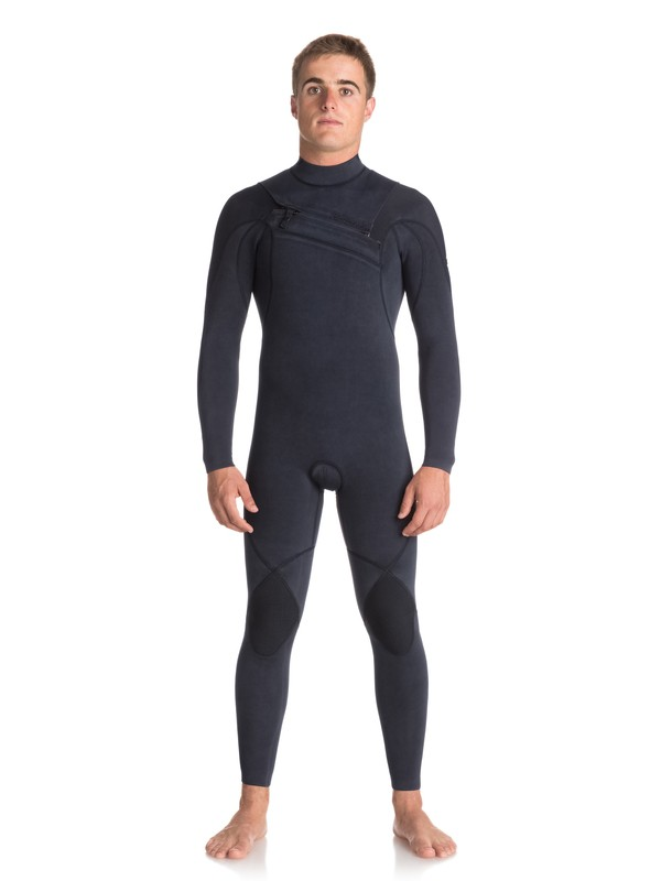 0 3/2mm Quiksilver Originals Monochrome - Chest Zip Wetsuit Blue EQYW103053 Quiksilver