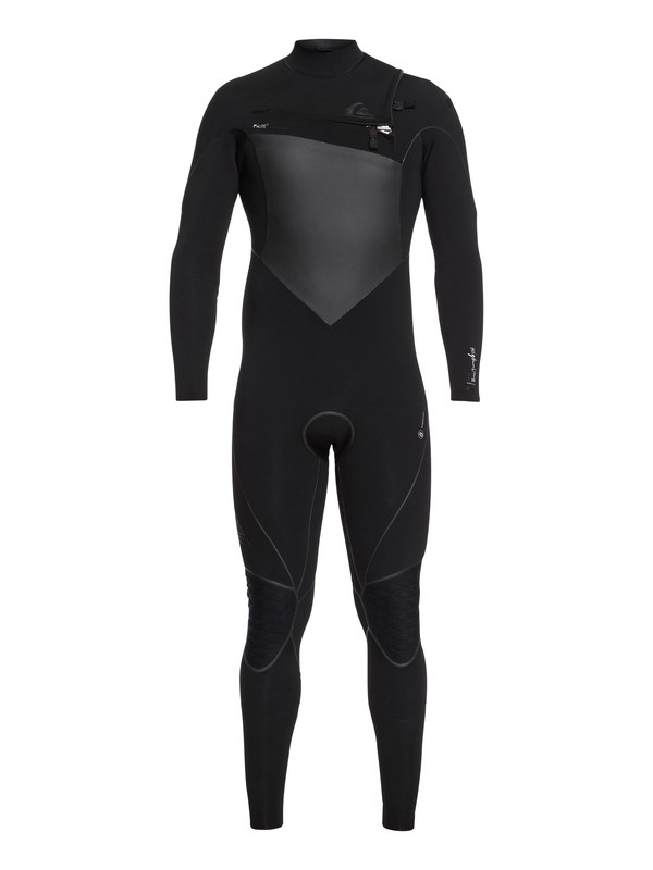 0 4/3mm Highline Plus Chest Zip Wetsuit Black EQYW103059 Quiksilver