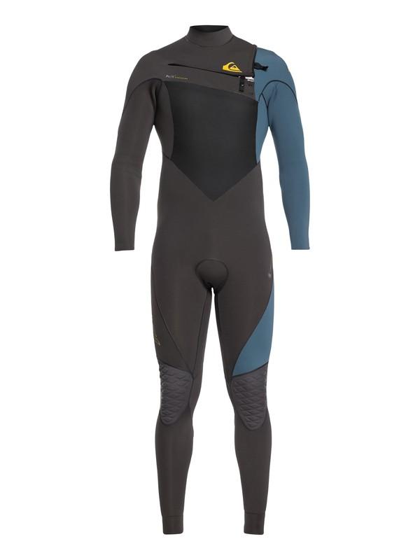 0 3/2mm Highline Plus - Chest Zip Wetsuit for Men Black EQYW103060 Quiksilver