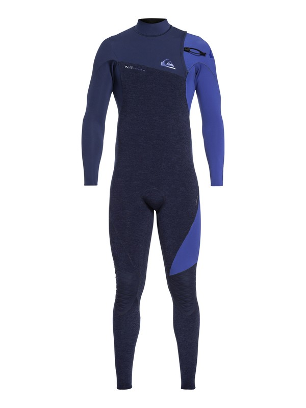 0 4/3mm Highline Series - Zipperless Wetsuit for Men Blue EQYW103061 Quiksilver