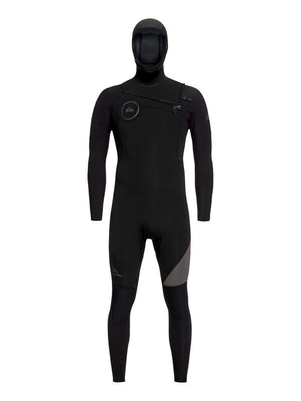0 5/4/3mm Syncro Series Hooded Chest Zip GBS Wetsuit Black EQYW203005 Quiksilver