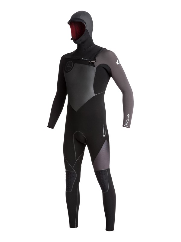 0 5/4/3 Highline Plus - Hooded Full Chest Zip Wetsuit Black EQYW203006 Quiksilver