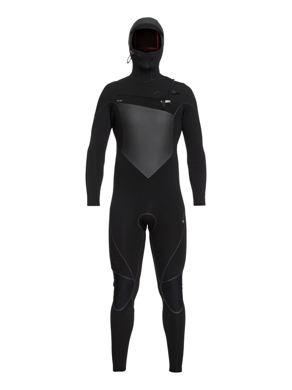 0 5/4/3mm Highline Plus - Hooded Chest Zip Wetsuit Black EQYW203009 Quiksilver
