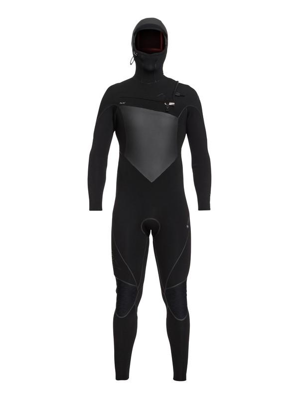 0 6/5/4mm Highline Series - Traje de surf GBS con cremallera en el pecho y capucha para Hombre Negro EQYW203010 Quiksilver