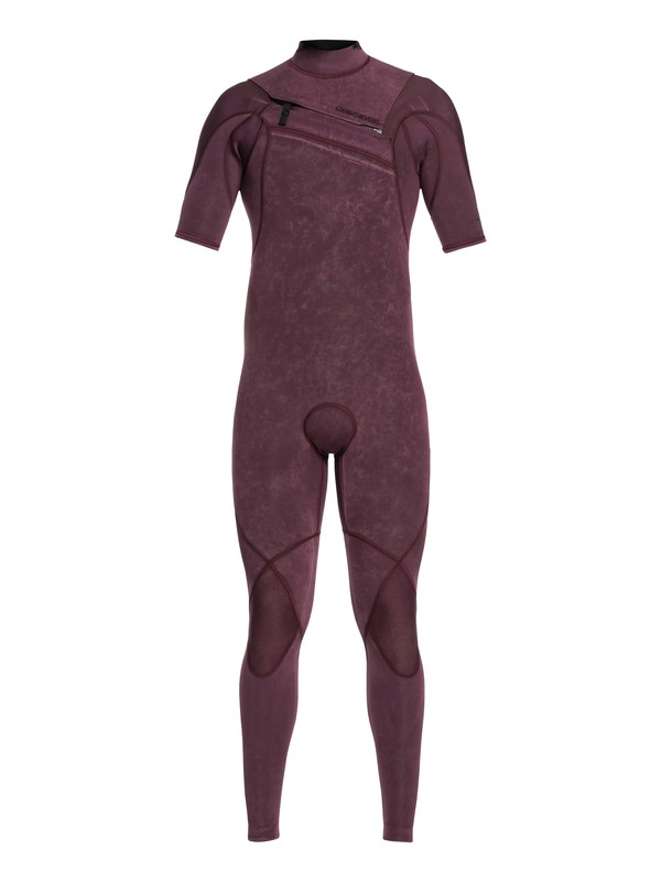 0 2/2mm Highline Ltd Monochrome - Short Sleeve Chest Zip Wetsuit for Men Pink EQYW303010 Quiksilver