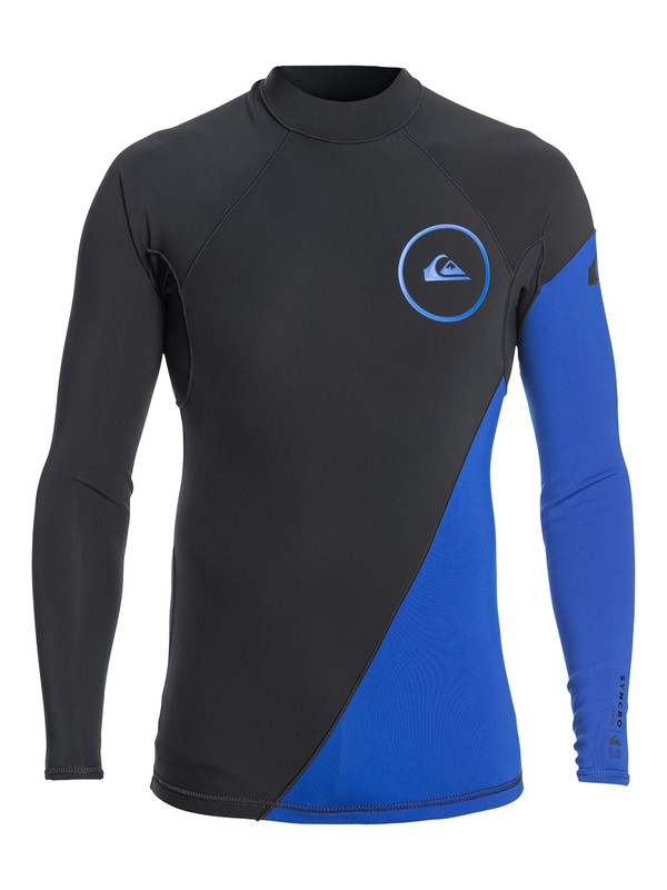 0 1mm Syncro Series Long Sleeve Neoprene Surf Top Blue EQYW803007 Quiksilver