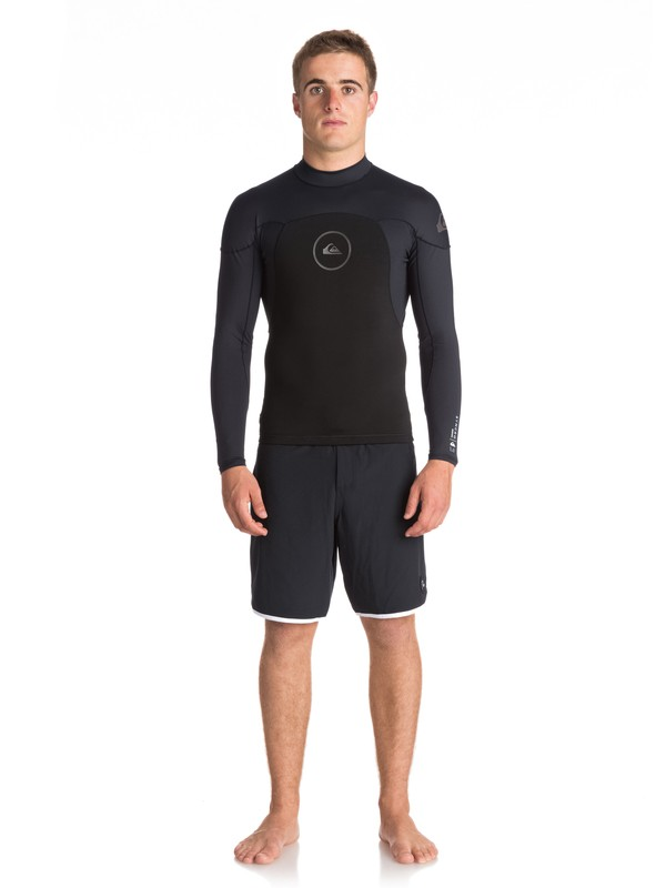 0 1mm Syncro Series Neoprene Long Sleeve Top Black EQYW803008 Quiksilver
