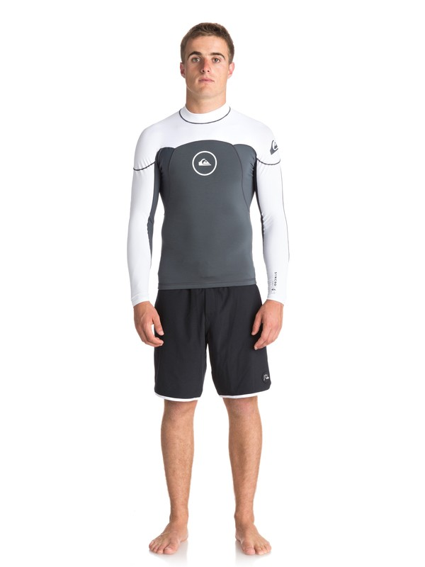 0 1mm Syncro Series - Long Sleeve Neoprene Surf Top for Men Black EQYW803008 Quiksilver