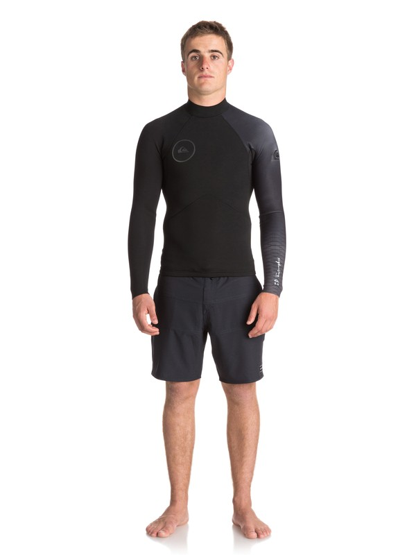 0 2mm Highline Plus Long Sleeve Neoprene Top Black EQYW803009 Quiksilver