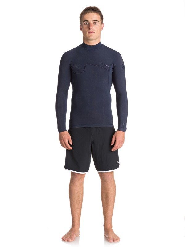 0 1.5mm Quiksilver Originals Monochrome - Wetsuit Top for Men Blue EQYW803010 Quiksilver