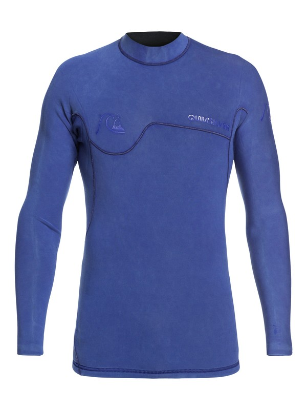 0 1.5mm Highline Limited Monochrome Long Sleeve Neoprene Surf Top Blue EQYW803021 Quiksilver