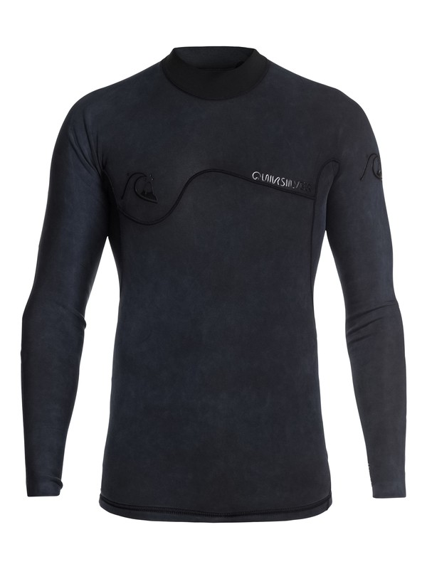 0 1.5mm Highline Limited Monochrome Long Sleeve Neoprene Surf Top Black EQYW803021 Quiksilver