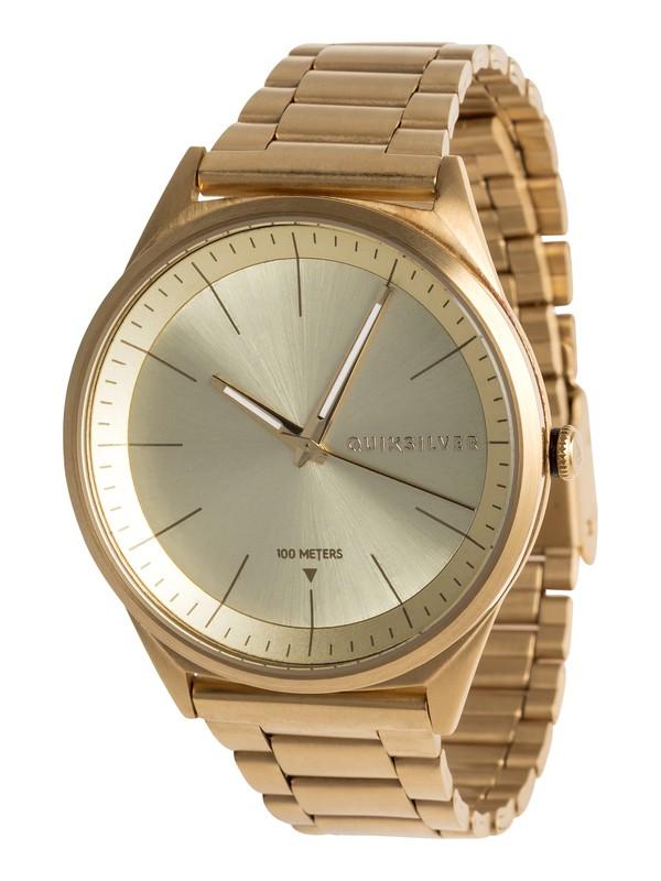 0 Bienville Metal - Reloj Analógico para Hombre Amarillo EQYWA03013 Quiksilver