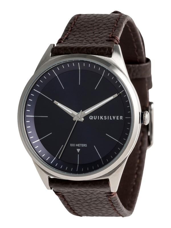 0 Bienville Leather - Reloj Analógico para Hombre Azul EQYWA03014 Quiksilver