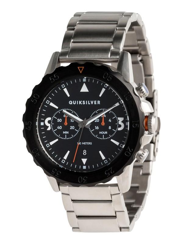 0 Kombat Chrono Metal - Reloj Analógico para Hombre Gris EQYWA03021 Quiksilver