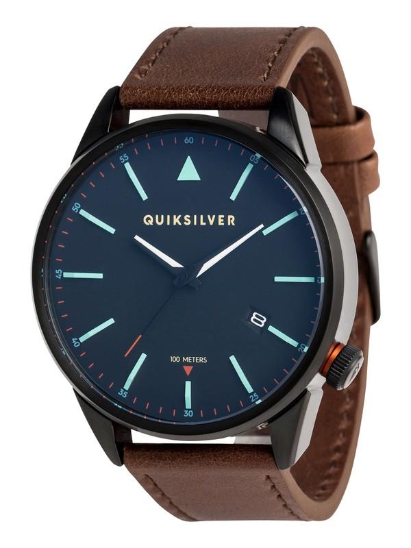 0 The Timebox Leather - Montre analogique pour Homme Noir EQYWA03024 Quiksilver