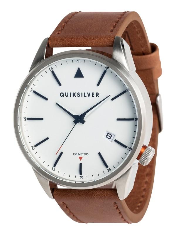 0 The Timebox Leather - Montre analogique pour Homme Gris EQYWA03024 Quiksilver