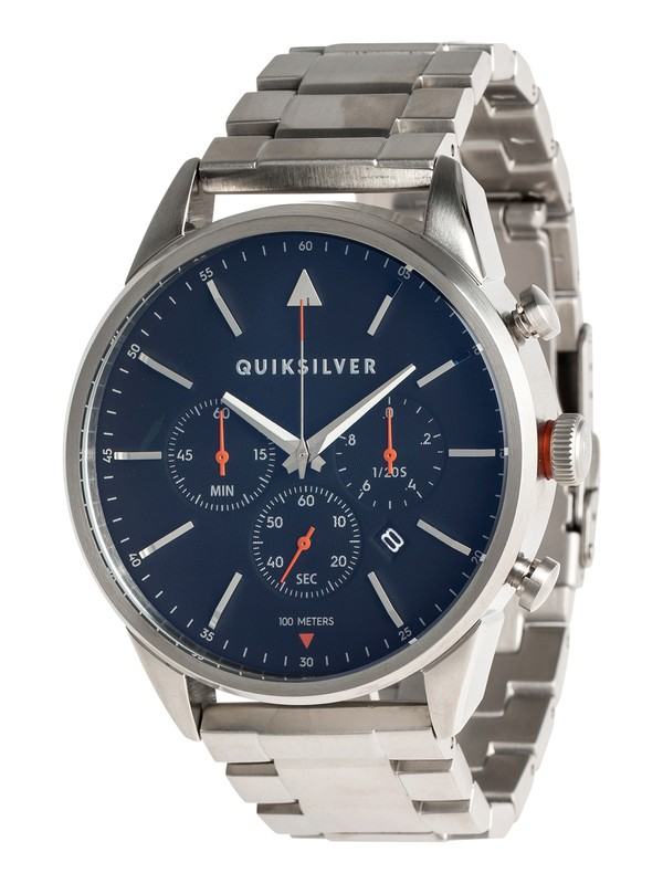 0 The Timebox Chrono Metal - Reloj Analógico para Hombre Gris EQYWA03025 Quiksilver