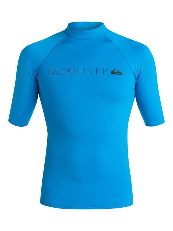 0 Heater - Rash vest a maniche corte Blue EQYWR03026 Quiksilver