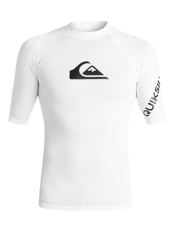 0 All Time Short Sleeve UPF 50 Rash Guard White EQYWR03033 Quiksilver