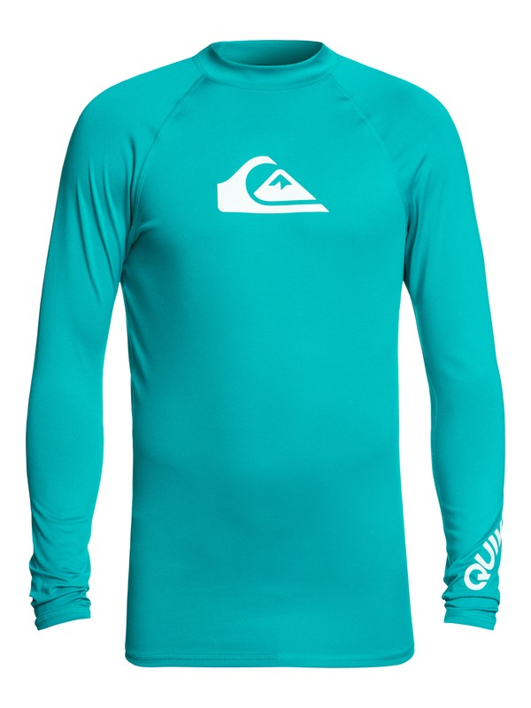 0 Men's All Time Long Sleeve UPF 50 Rash Guard Blue EQYWR03034 Quiksilver