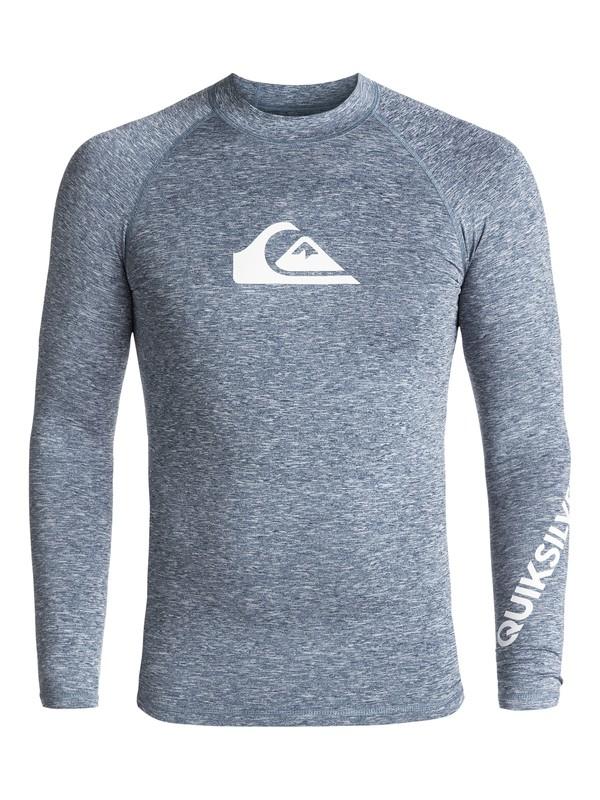 0 All Time - Long Sleeve UPF 50 Rash Vest for Men Blue EQYWR03034 Quiksilver