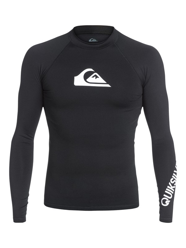 0 All Time Long Sleeve UPF 50 Rash Guard Black EQYWR03034 Quiksilver
