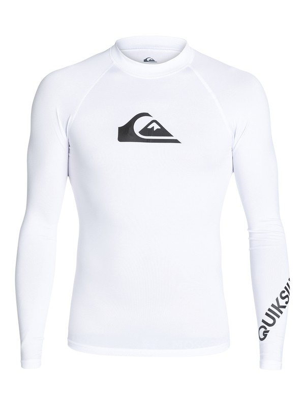 0 All Time - Langarm UPF 50 Rash Vest Weiss EQYWR03034 Quiksilver