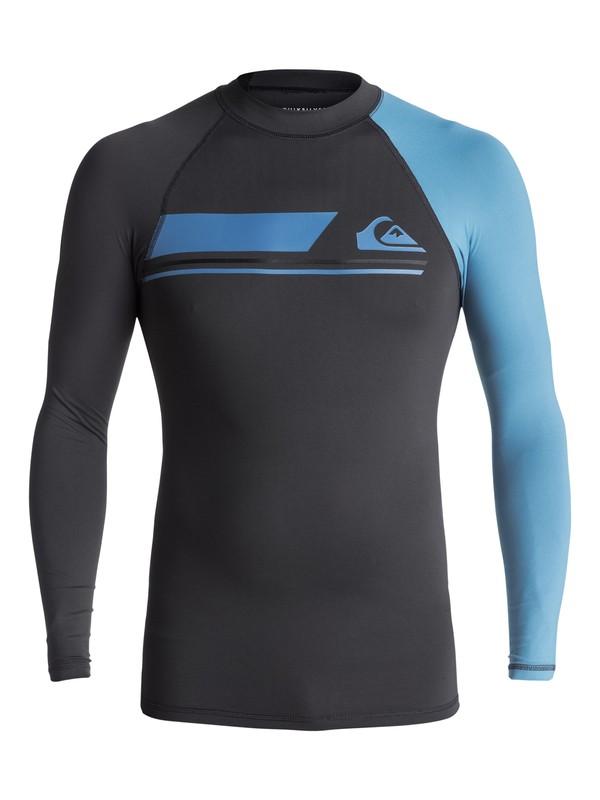 0 Active - Long Sleeve UPF 50 Rash Vest for Men Black EQYWR03072 Quiksilver
