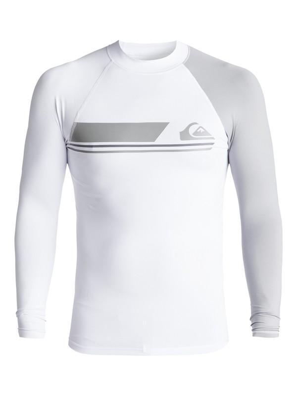 0 Active - Langarm UPF 50 Rash Vest für Männer Weiss EQYWR03072 Quiksilver