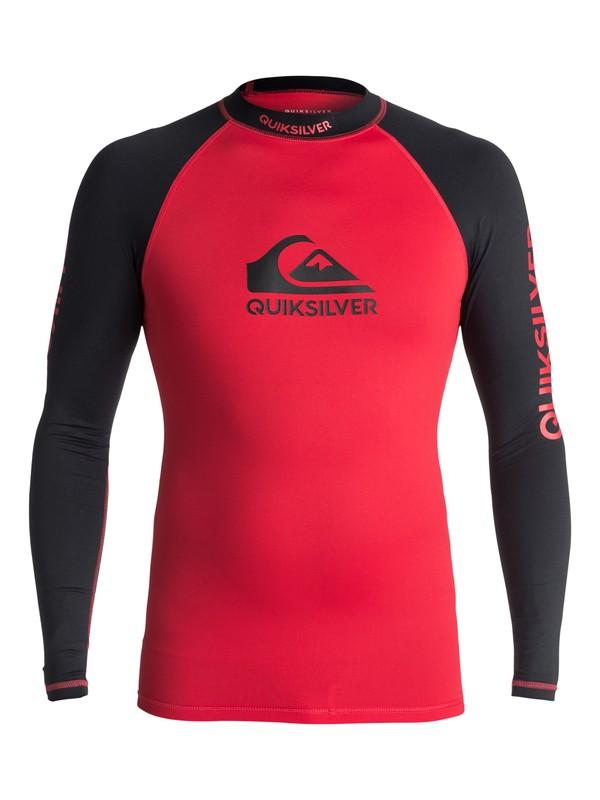 0 On Tour - Langarm UPF 50 Rash Vest für Männer Rot EQYWR03076 Quiksilver
