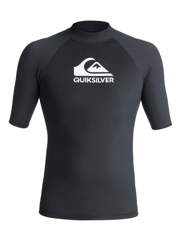 0 Heater - Short Sleeve Rash Vest for Men Black EQYWR03077 Quiksilver