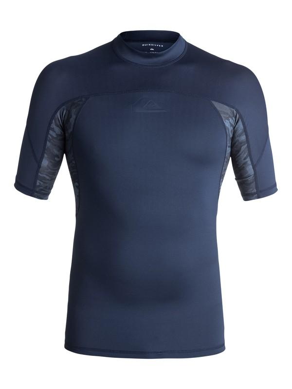 0 New Wave - Rash Vest met korte mouwen UV-bescherming Blue EQYWR03079 Quiksilver