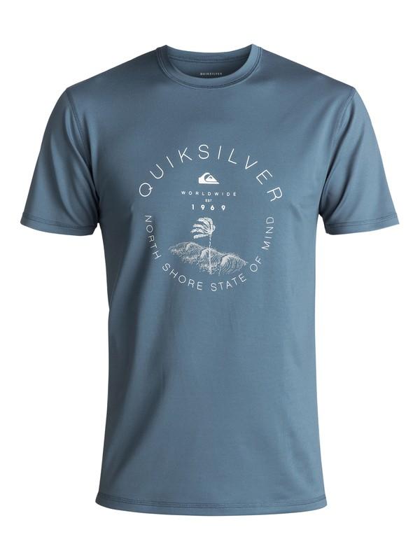 0 Radical Surf Amphibian UPF 50 Surf Tee Blue EQYWR03085 Quiksilver