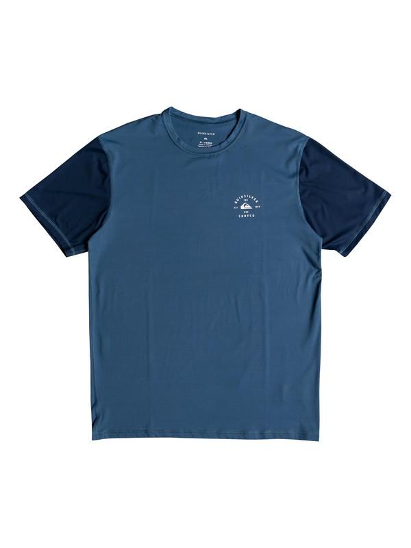 0 Color Blocked Amphibian Short Sleeve UPF 50 Rash Guard Blue EQYWR03089 Quiksilver