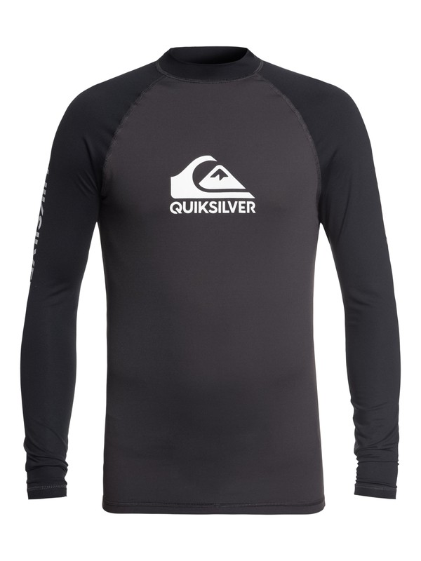 0 On Tour - Rash Vest UPF 50 a Maniche Lunghe da Uomo Black EQYWR03111 Quiksilver
