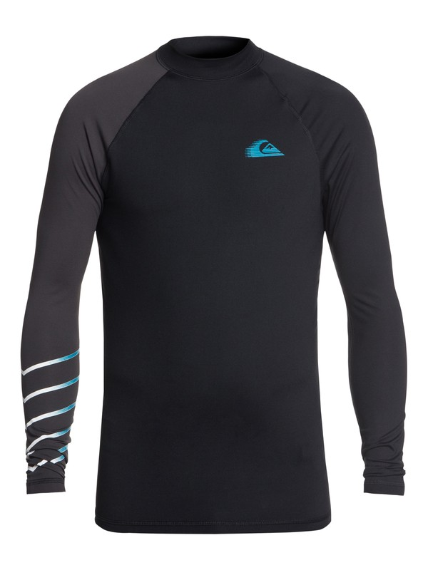 0 Men's Active Long Sleeve UPF 50 Rash guard Black EQYWR03113 Quiksilver