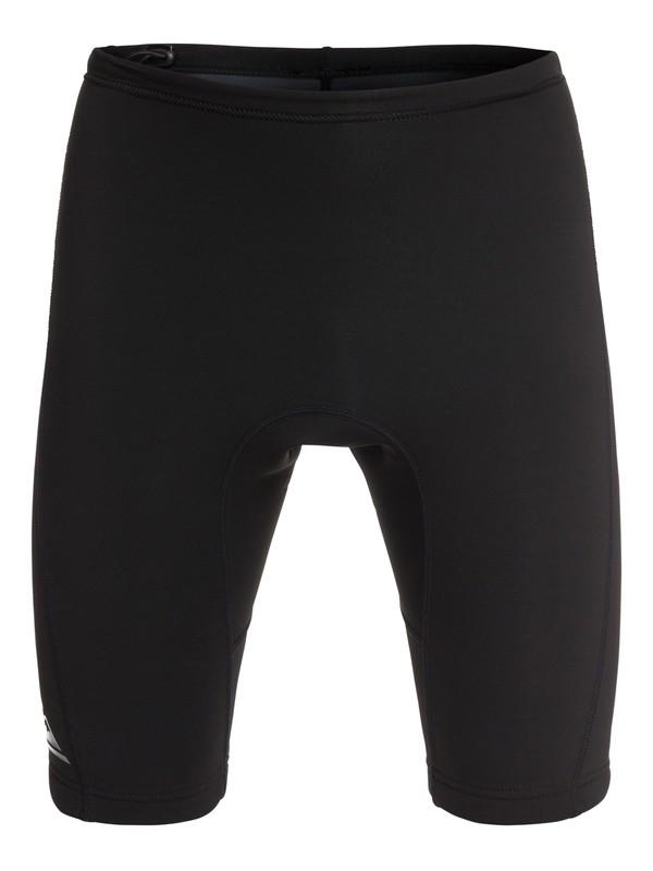 0 Men's Solid Rashguard Shorts Black EQYWR03133 Quiksilver