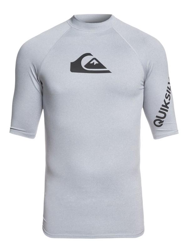 0 All Time Short Sleeve UPF 50 Rashguard Grey EQYWR03136 Quiksilver
