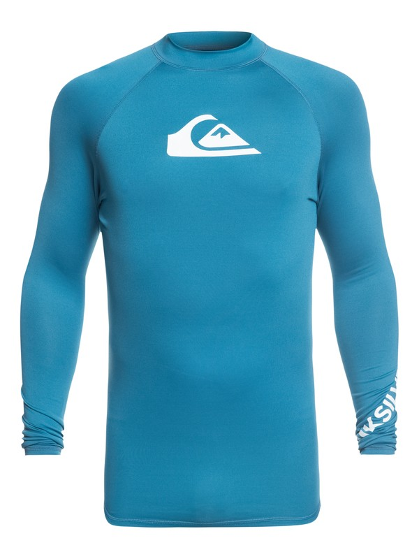 0 All Time Long Sleeve UPF 50 Rashguard Blue EQYWR03137 Quiksilver