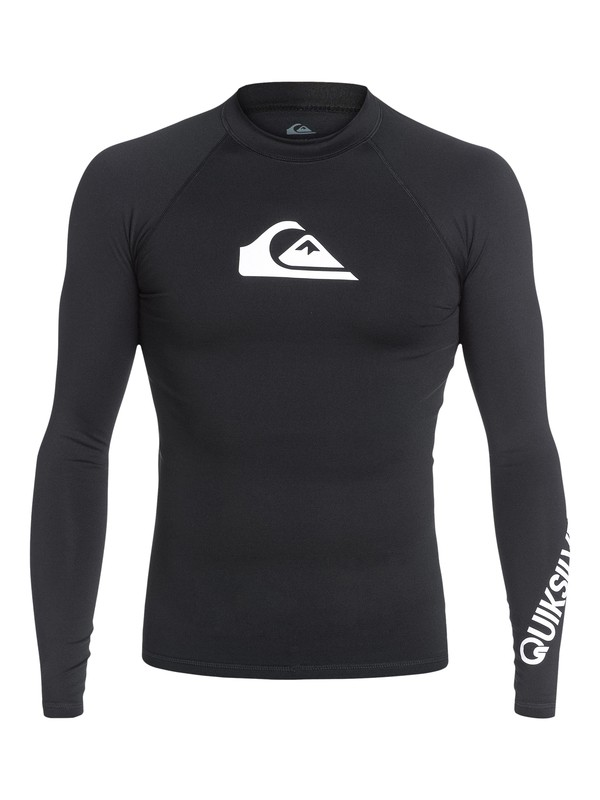 0 All Time Long Sleeve UPF 50 Rashguard Black EQYWR03137 Quiksilver