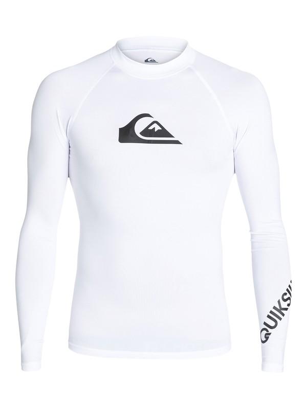 0 All Time Long Sleeve UPF 50 Rashguard White EQYWR03137 Quiksilver