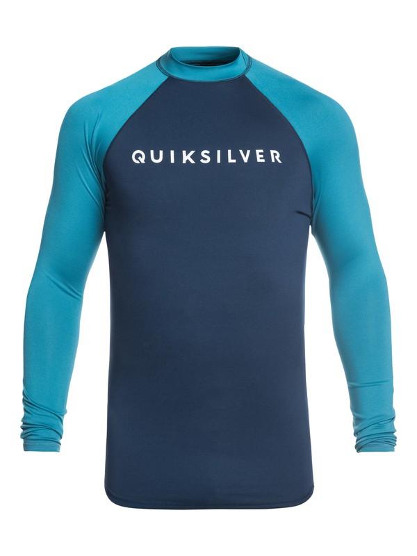0 Always There Long Sleeve UPF 50 Rashguard Blue EQYWR03143 Quiksilver