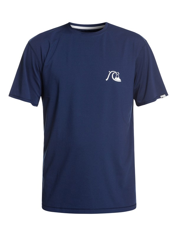 0 Bubble Logo Short Sleeve UPF 50 Surf Tee Blue EQYWR03151 Quiksilver