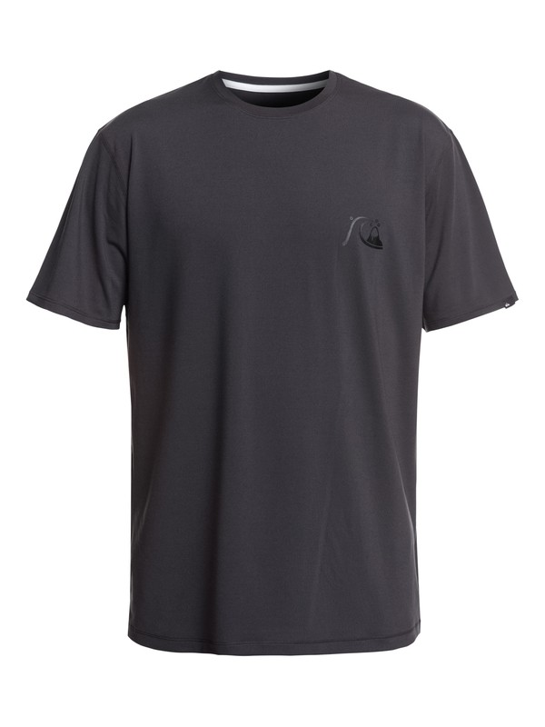 0 Bubble Logo Short Sleeve UPF 50 Surf Tee Black EQYWR03151 Quiksilver