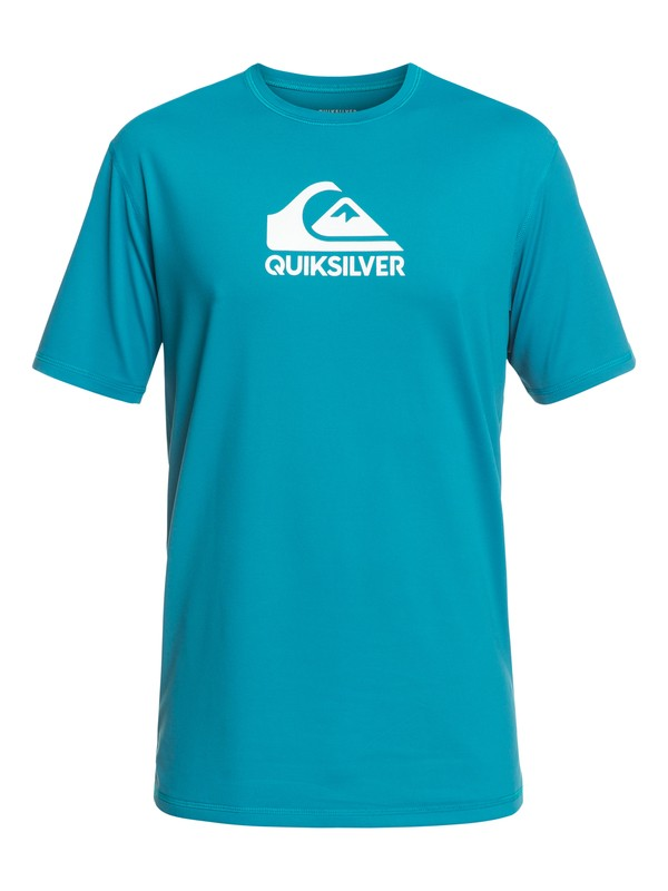0 Solid Streak Short Sleeve UPF 50 Surf Tee Blue EQYWR03159 Quiksilver