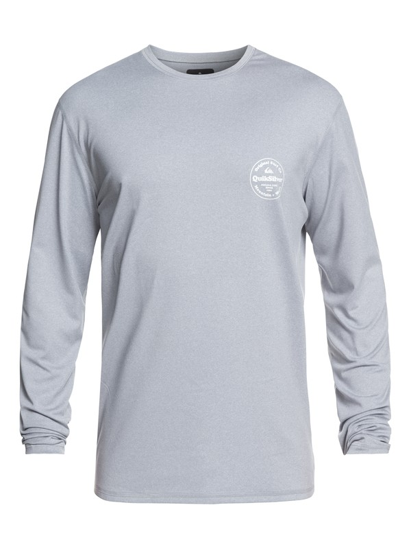 0 King Tide Long Sleeve UPF 50 Surf Tee Grey EQYWR03163 Quiksilver